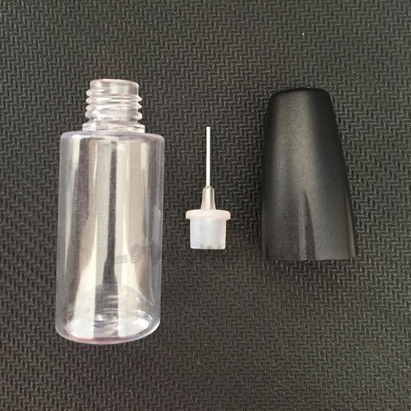 Wholsale New 10ML Squeeze Bottles With Metal Needle Tip Empty PET Clear Needle Bottle For E Liquid Plastic Bottles for eGo Vapor E Juice C