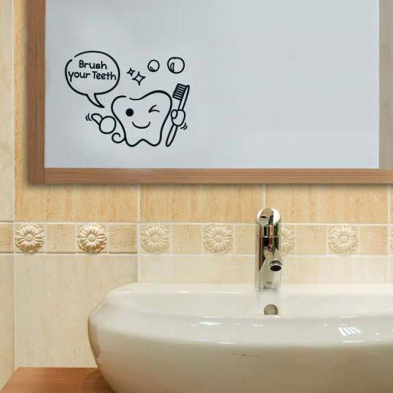 DIY Komik Banyo Duvar Sticker Cam Kapı Su Geçirmez Duvar Çıkartmaları Sevimli Çocuk Duş Sticker Çıkarılabilir Tuvalet Sticker Dekor S4