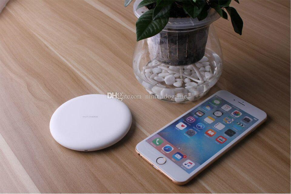 Fast Wireless Qi Cell Phone Charger Wireless Charger Charging For samsung s7 s8 edge plus note8 with USB cable package