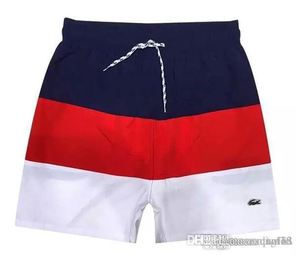 6e3895e5f3a6 2019 Lacoste 2018 New Wholesale Men Stripe Shorts HOT Brand Summer Shorts  Men Surf Beach Embroidery Male Board Shorts Plus Szie M XXL From Zzqiao18