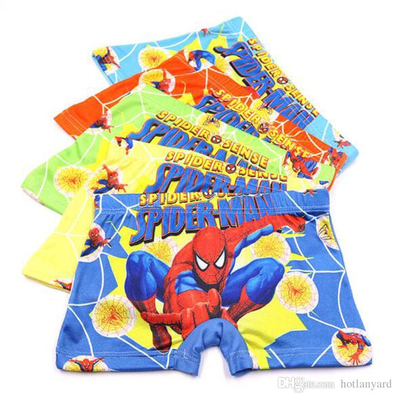 1a0e0a79e6 Compre Fashion Spiderman Ropa Para Niños Niños Dibujos Animados Niños Ropa  Interior De Algodón Para Bebés Boxer Pantalones Cortos Ropa Interior De  Moda 2 9 ...