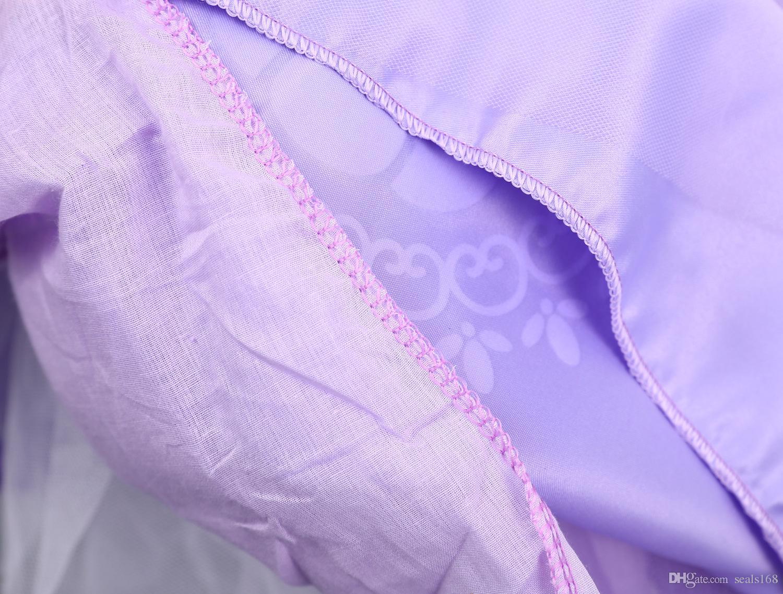Yeni Kızlar Rapunzel Fantezi Elbise Kostüm Çocuklar Prenses Kıyafet Cosplay Noel Kız Için Elbise Prenses Mor Tül Dantel Elbise HH7-1036