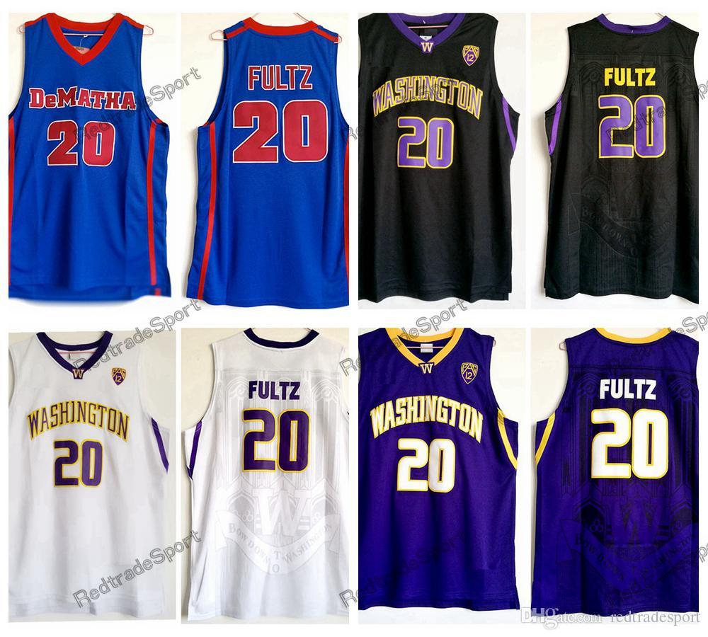 1ea5e08e563 2019 Mens Vintage Markelle Fultz DeMatha Catholic High School Basketball  Jerseys  20 Washington Huskies Markelle Fultz Stitched Shirts S XXL From ...