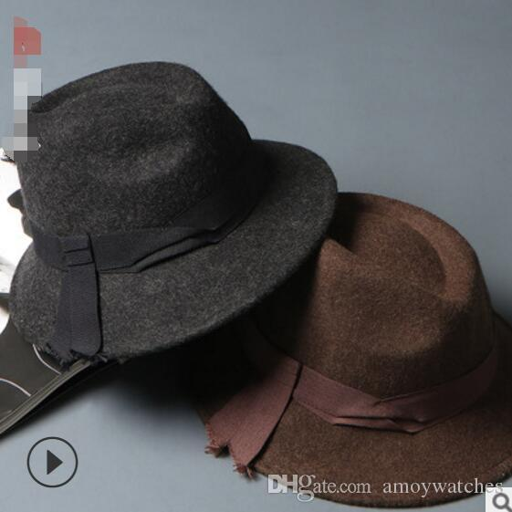 2019 High End Mens Autumn Winter Hats Woollen Hat British Couple Hats  European Style Retro Jazz Hats From Amoywatches 1c3d4bb09f5