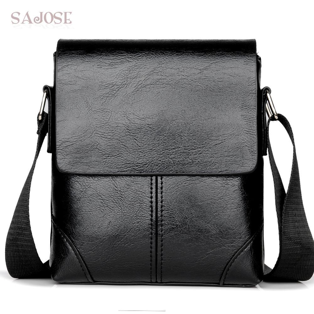 a9f47ad6aa2f56 Men Crossbody Bag Fashion Leather Shoulder Bag Casual Black Business Mens  Hand For Phone High Quality Travel Drop Shipping Handbag Sale Handbag  Brands From ...