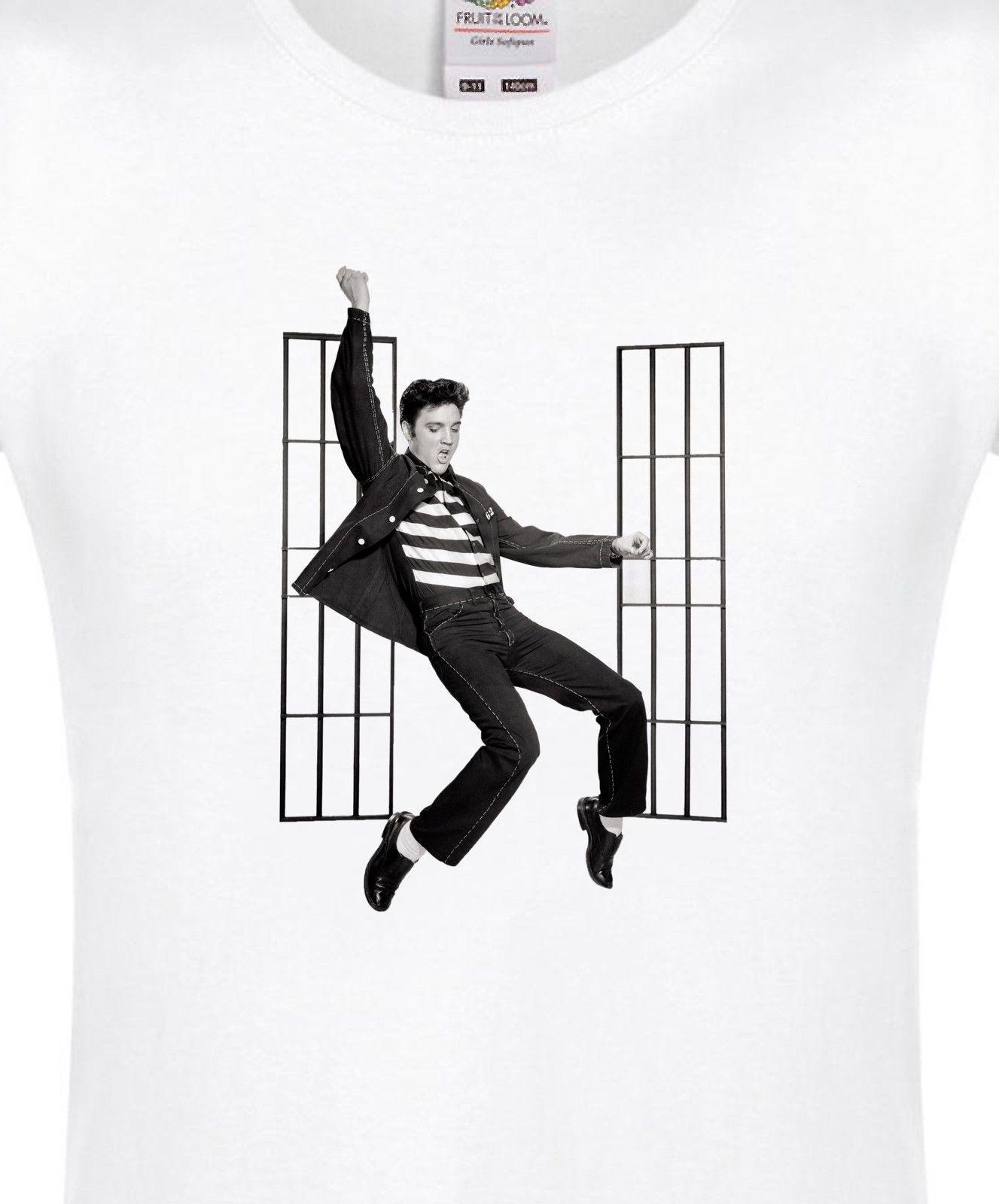 e55b40d21 ELVIS PRESLEY JAIL HOUSE ROCK WOMENS T SHIRT 100%COTTON MUSIC TEE LADY FIT  TOP Interesting T Shirts T Shirt Buy Online From Bincheng5, $12.02|  DHgate.Com