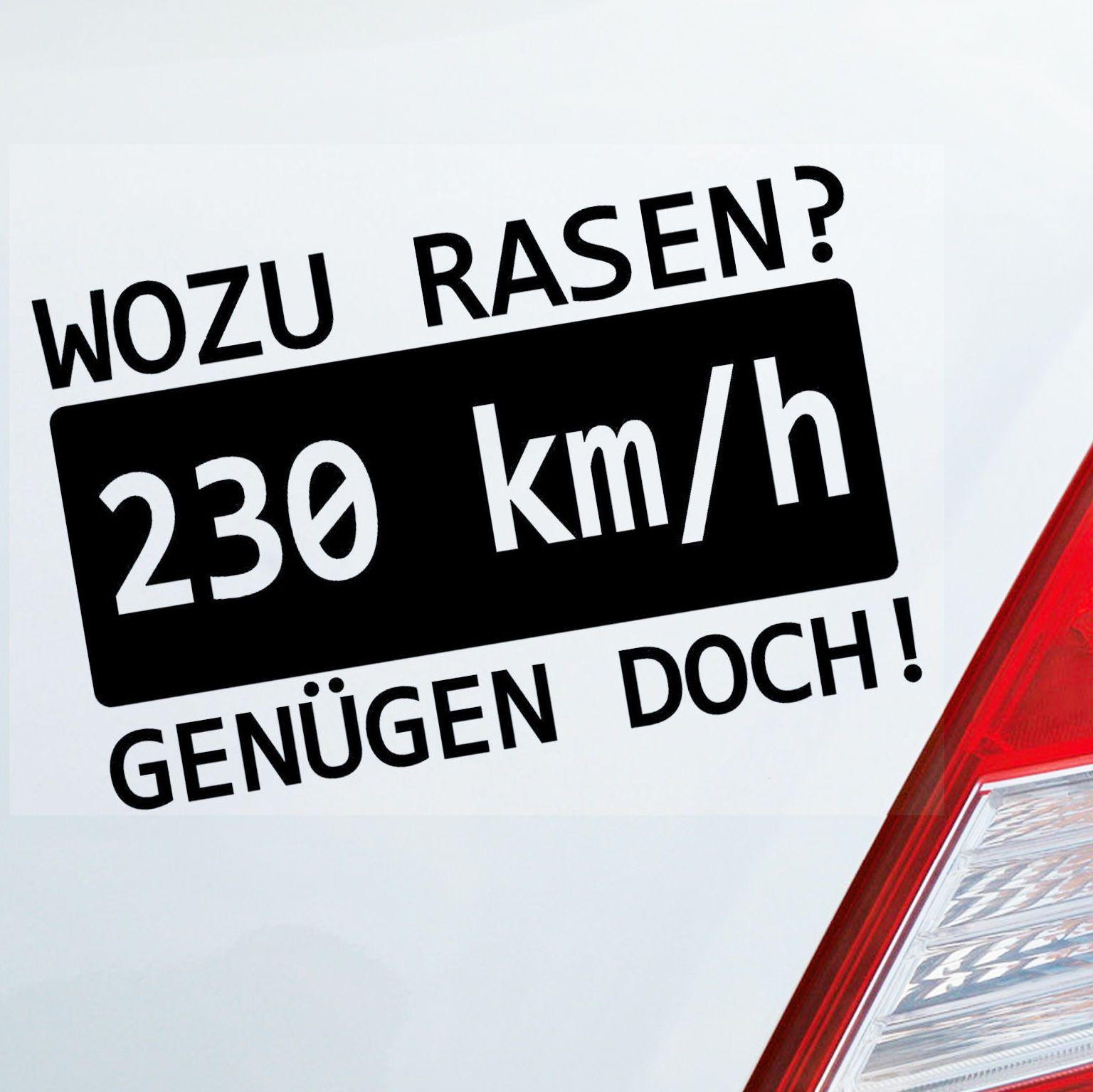 2019 15 9 5cm Auto Motorrad Aufkleber Wozu Rasen Speed 230 Kmh