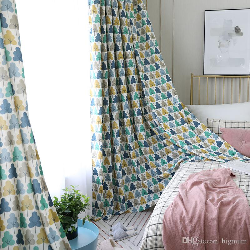 Blackout Curtain For Kids Room Printed Kids Curtain Modern Tree Pattern Curtain  Drapes Tulle For Living Room Window Decoration UK 2019 From Bigmum, ...