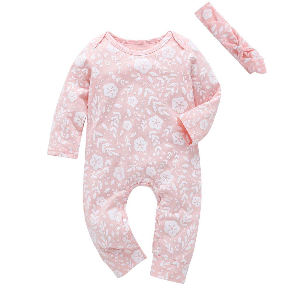 67d93e322 Set Newborn Kids Baby Girls Clothes Set Long Sleeve Casual Suit Baby ...