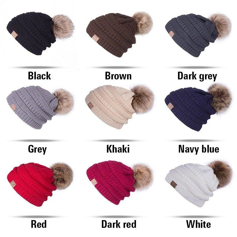 012f86a3de6 2019 New Fashion Women Ladies Winter Beanie Hat Warm Knitted With Small  Crystals Large Pom Pom Hats From Zaonoodle