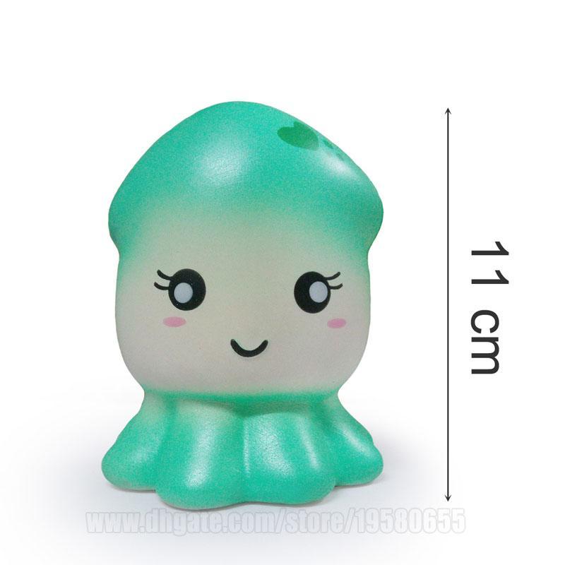 Squid Baby Squishy Toy Squishies Kawaii Cuttlefish Slow Rising Sea Sleeve Fish DHL Free Shipping SQU059