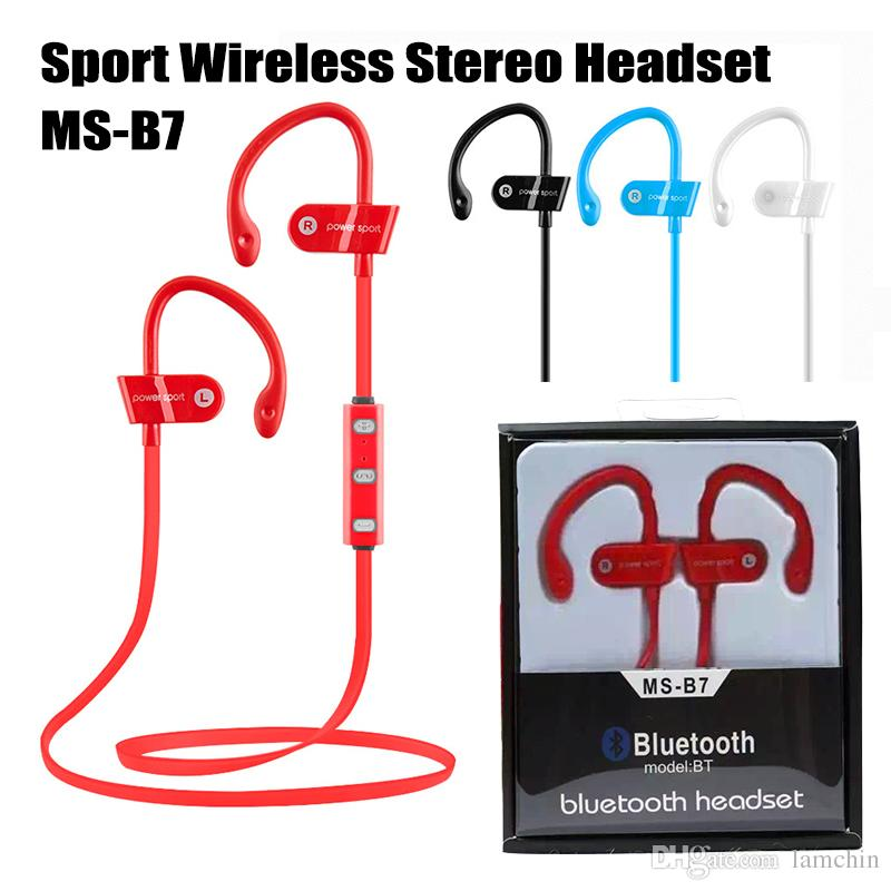 8e9e91f87 Tipo De Audifonos Sport Bluetooth 4.1 Auriculares Estéreo Inalámbricos MS  B7 Auriculares Auriculares Corriendo Gancho Para La Oreja Manos Libres Con  ...