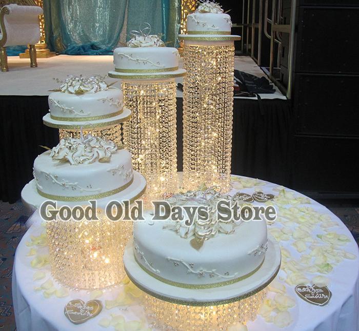 Grosshandel 5 Stucke Kristall Hochzeitstorte Europa Hochzeit Kuchen