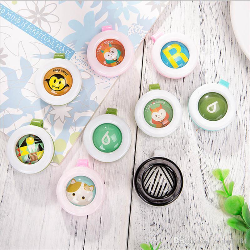 Neue reizende mückenschutz-taste für zuhause baby kinder schnalle outdoor mückenschutz nette karikatur schnalle