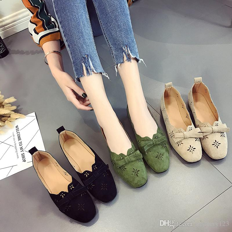 14cfe086e Summer New single-shoe women's flat-bottomed Ladies Ballet Flats Shoes  Casual Comfort Slip On Boat Loafers Shoes Breath