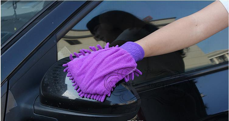 Microfiber Snow Neil fiber high density car wash mitt car wash gloves towel cleaning gloves