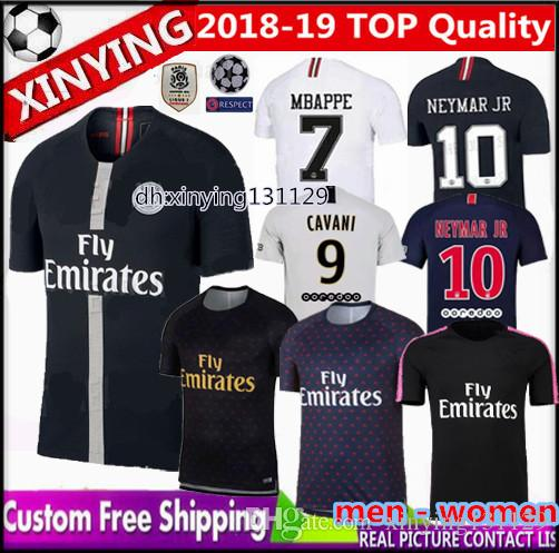 huge discount cafc2 f96f8 Champions League psg jersey 2018 2019 men women new MBAPPE Paris soccer  jersey 18 19 CAVANI VERRATTI KIMPEMBE training suit football shirt