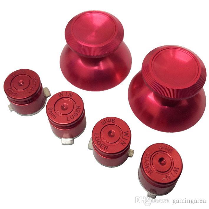 Металлического алюминия 3D аналоговый джойстик придерживайтесь Cap ручками + пуля кнопки действий кнопка для PS4 контроллер DHL бесплатная доставка EMS