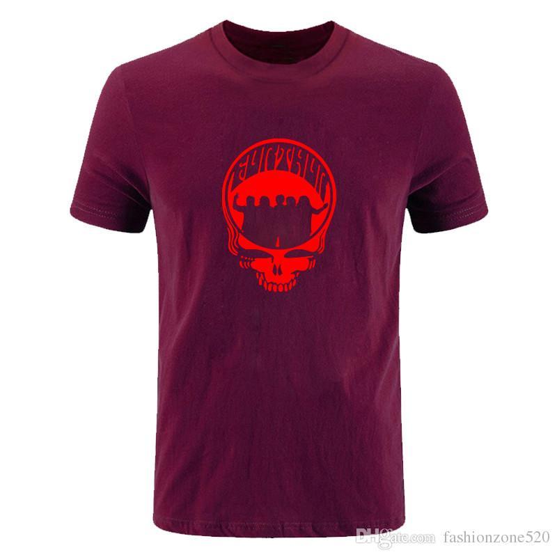 Nueva moda de verano Grateful Dead T Shirt Men Game camiseta Tops manga corta de algodón Banda de Rock T Shirts Hombres Ropa Tee DIY-0693D