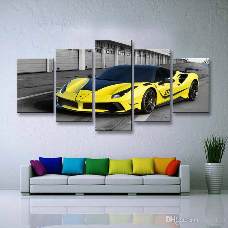 Painting & calligraphy World famous car canvas poster art painting living room restaurant Bedroom Decorative paintings C5-055