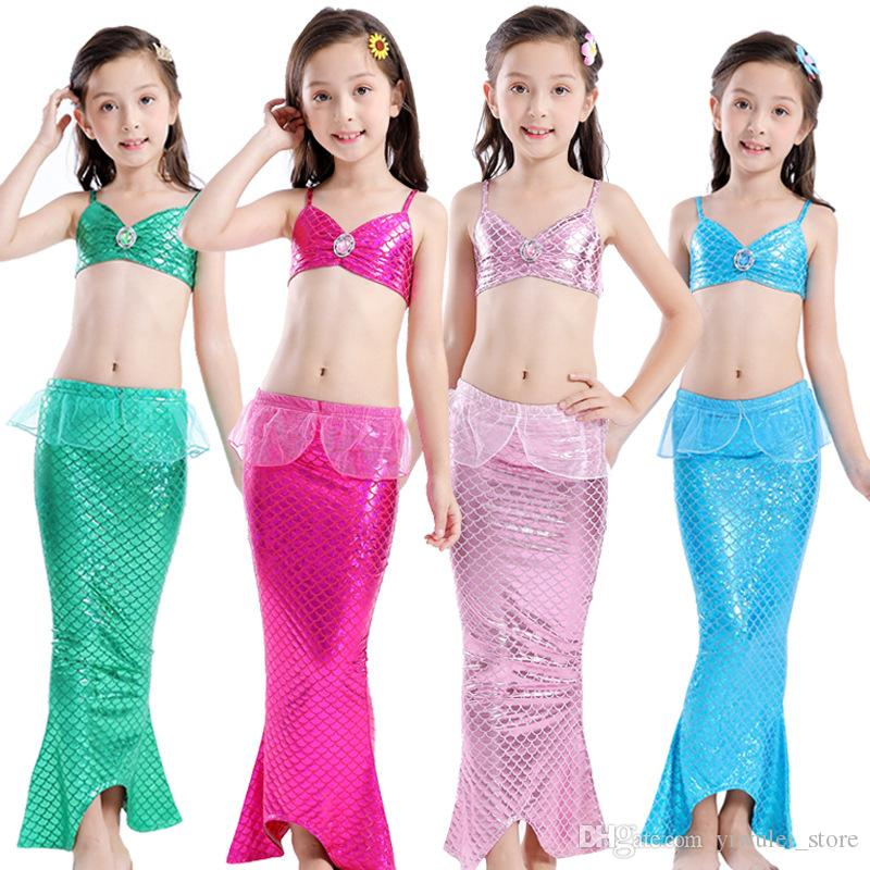 2019 Girls Swimsuit Bikin New Fashion Kids Girls Clothes Swimmable