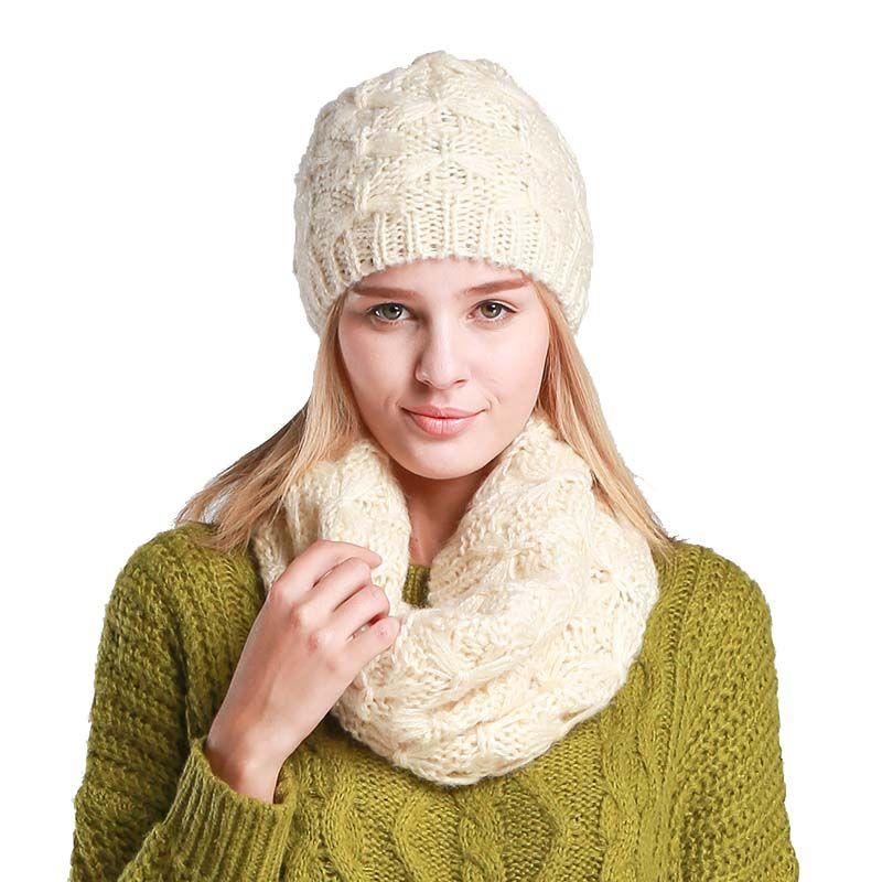 2019 Fashion Women Hat Scarf Hat Winter Woollen Knit Beanies Winter Cap And  Scarf Women Beanies Ensemble Bonnet Echarpe From Mangocc,  25.26    DHgate.Com c8b7eb3db56