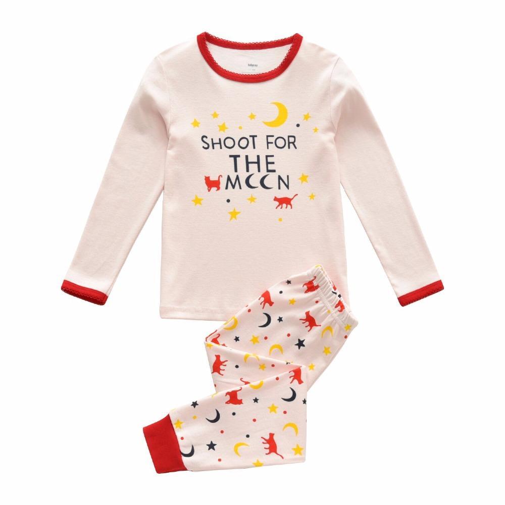 f5b7e5bca Compre Marca Meninos Sleepwear Roupa Dos Miúdos Pijama Set Roupas Infantis  Do Bebê Meninas Dos Desenhos Animados Pijamas Crianças Primavera Outono  Pijamas ...