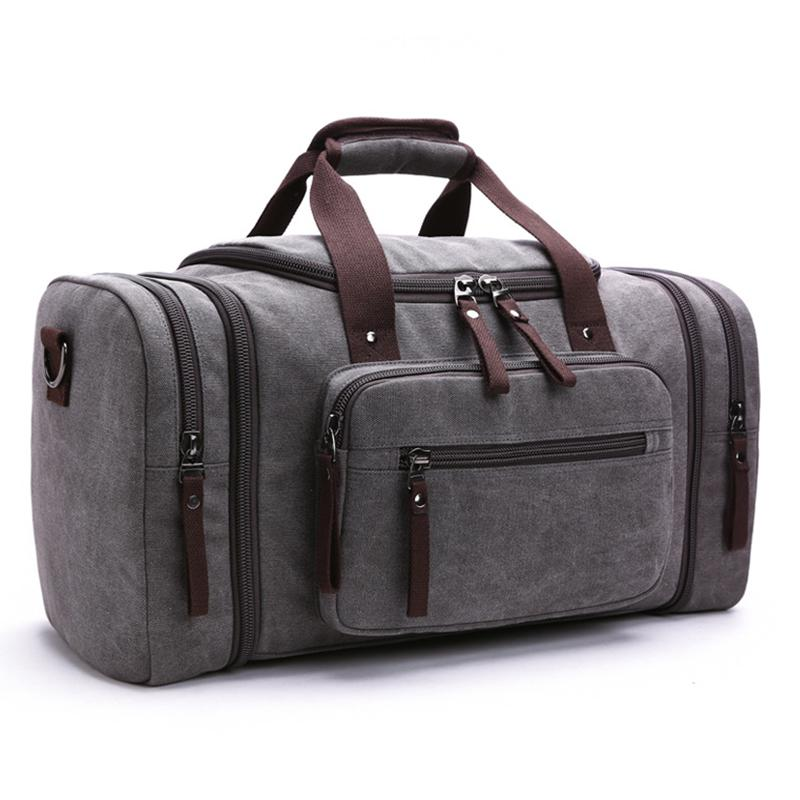 Fashion Canvas Men Travel Bags Large Capacity Female Women Travel Duffle  Bags Carry On Luggage Bag Men Weekend Trip Handbags New Kids Suitcases  Personalized ... eaccd26308819