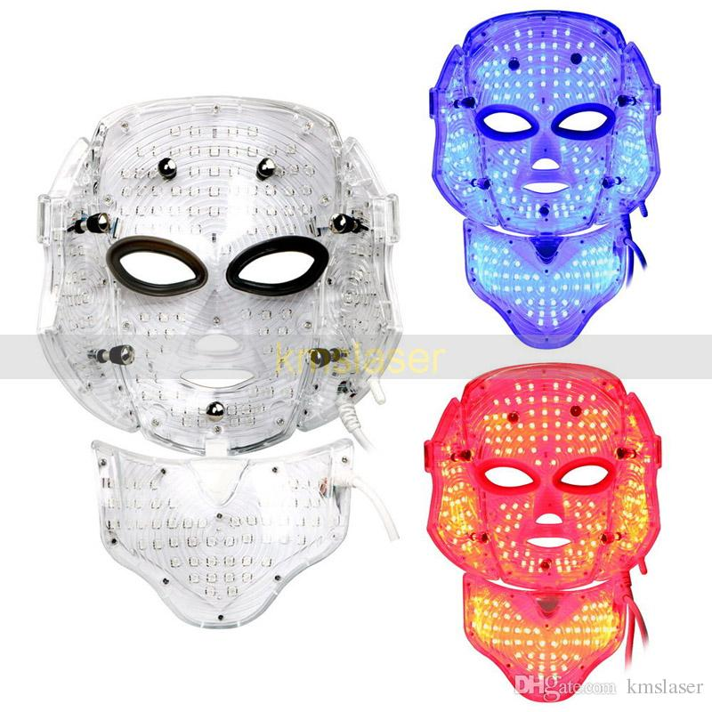 Red blue led light mask skin rejuvenation skin tightening acne removal spa home salon use machine