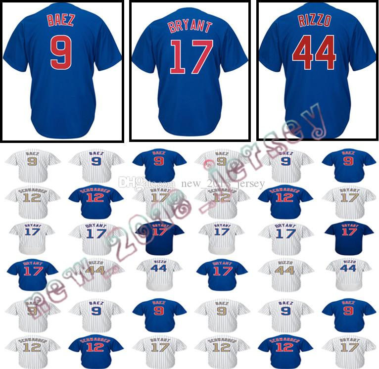 d21897dbd 2019 Men'S 9 Javier Baez 44 Anthony 17 Baseball Jersey 12 Kyle Schwarber  Embroidery Jerseys Stitched Cool Base Jerseys From Perfect_no_1, $16.35 |  DHgate.