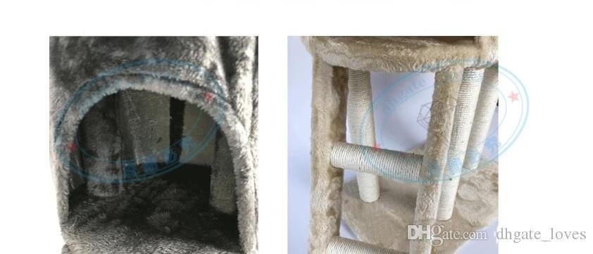 Merdiven Tırmanma Çerçeve Beş Katmanlı Kedi Ağacı Çerçeve Pet House Play Platformu Peluş Bez Fabrika Doğrudan Pazarlama Yüksek Kalite