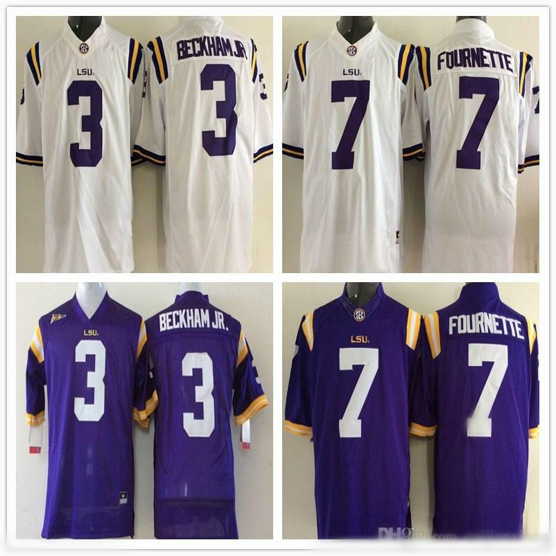 online retailer 55729 121ac Youth LSU Tigers 3 Odell Beckham Jr. 7 Leonard Fournette Kids Boys Children  College Football Jersey