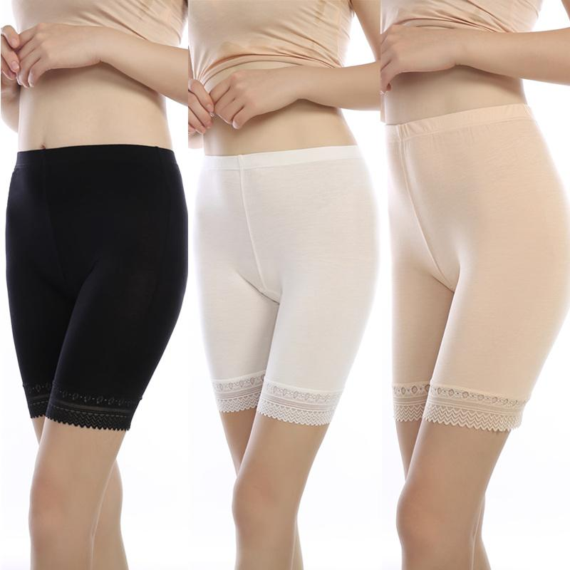 7f7ffbaff 3pcs lot soft and comfortable modal material boxer shorts safety pant for women  panties big size high waist ladies  underwear