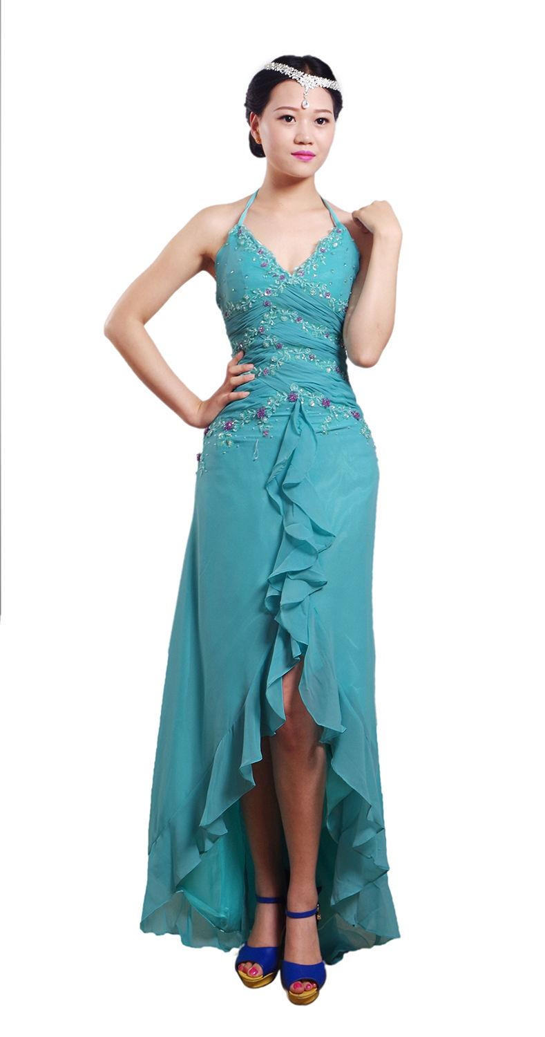 spot Stock Bridesmaid Dress Chiffon Wedding Dress Split Shoulder Straps Evening Dresses Formal Dress Bridal Gown costume party 6-10-12-14-16