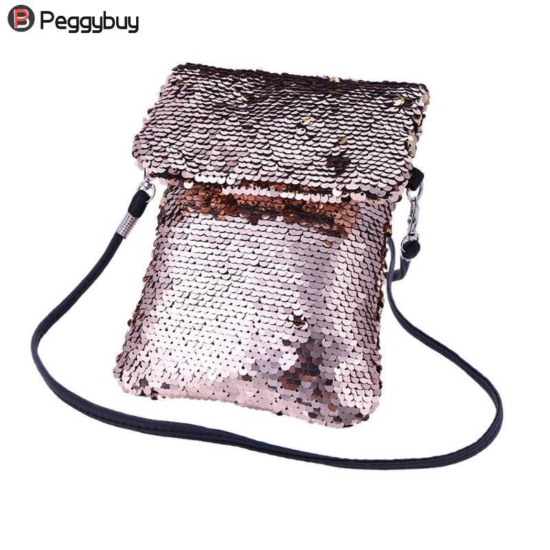 4932bf932658 Women Gorgeous Sequins Shoulder Bags Ladies Portable Party Crossbody  Messenger Mini Shining Phone Bags Small Bag Comestic Bag Discount Designer  Handbags ...