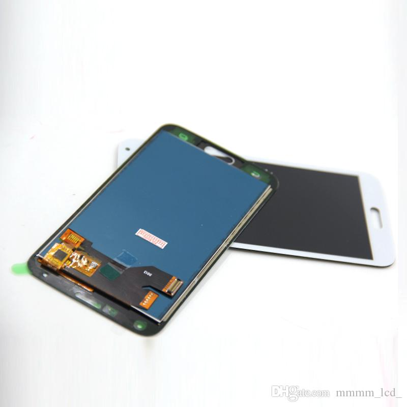 Copia Samsung S5 LCD G900F Display LCD Touch Screen Digitizer Assembly compatibile Samsung Galaxy S5 G900 G900F LCD regolabile