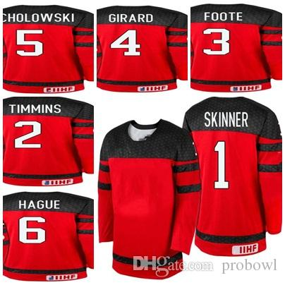 2017 Custom WJSS Team Hockey Jerseys 1 Stuart Skinner 2 Conor ... bd3143be26f