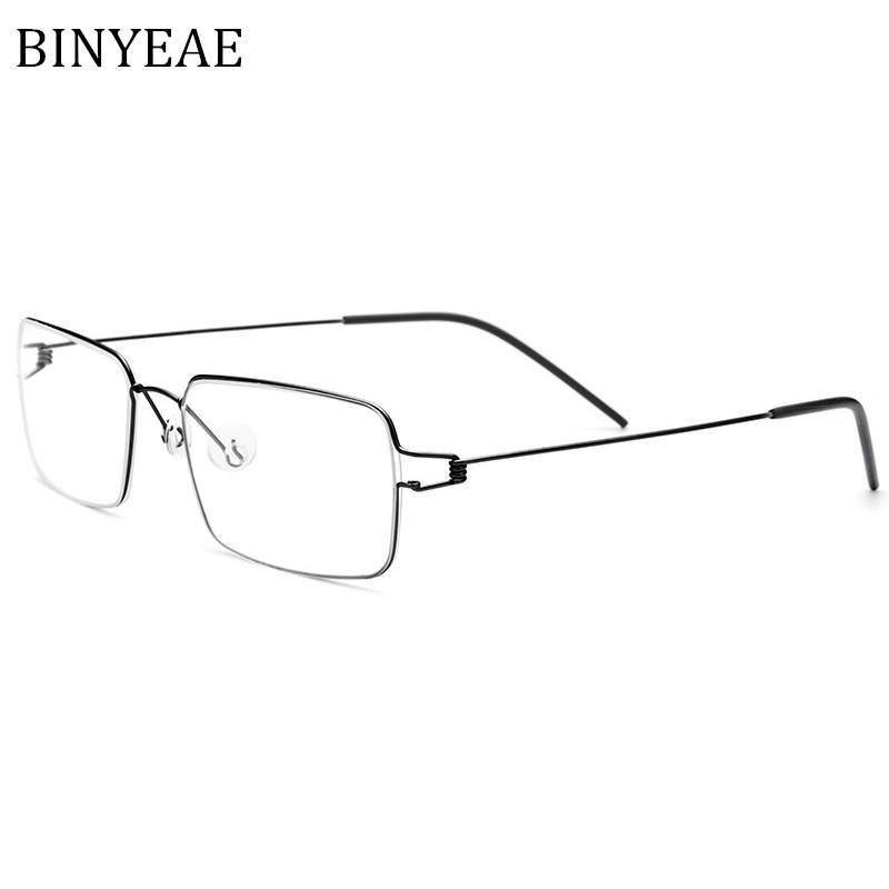 22fdfcfdcf9 2019 BINYEAE Titanium Glasses Frame Men Prescription Eyeglasses Korean  Denmark Women Brand Designer Myopia Optical Frames Screwless From Yuijin