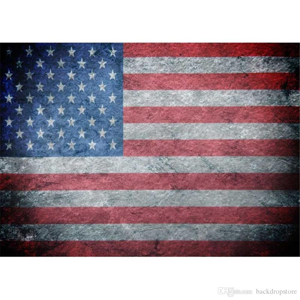 2018 horizontal american flag photography backdrops vinyl digital