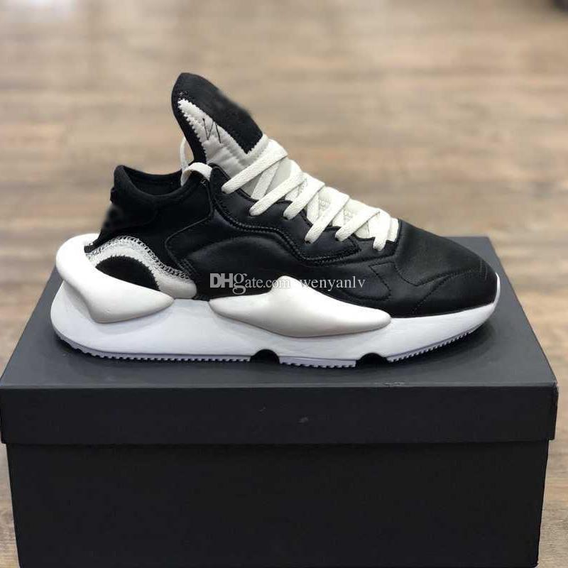 separation shoes 04eab 6bf4f Hombres Y 3 Kaiwa Chunky Sneakers Negro Blanco Cuero Genuino Hombres Top  Calidad Y3 Botas Zapatos Con Box Por Wenyanlv,  142.14   Es.Dhgate.Com