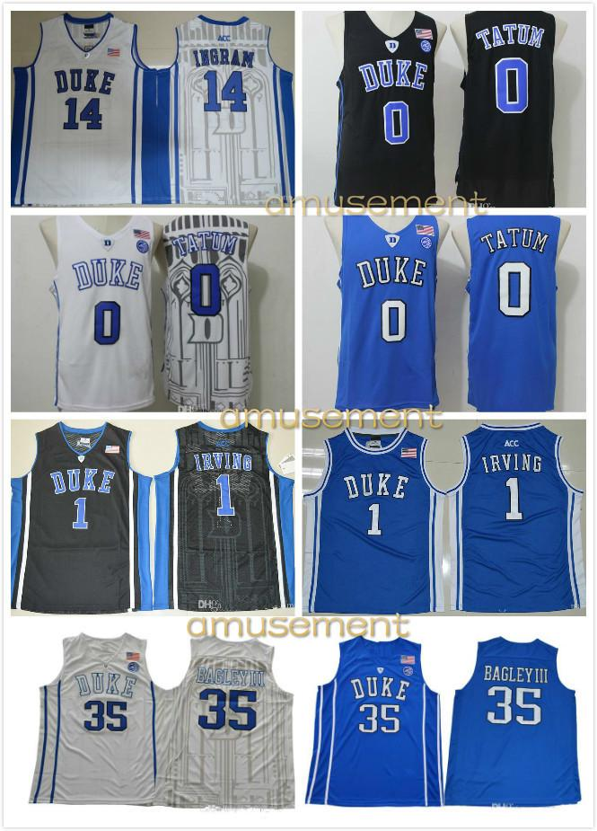 f9bd539fc362 College Basketball Duke Blue Devils 35 Marvin Bagley Jersey III Hill ...