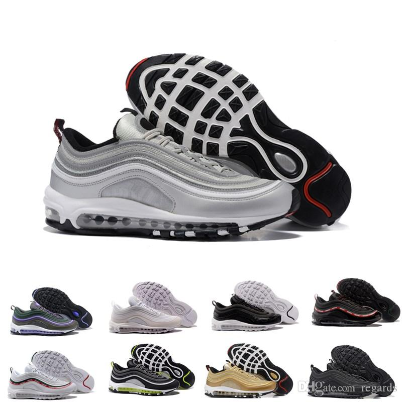 0b328e7defec 2019 97 Mens Low Running Shoes Cushion OG Silver Gold Anniversary Edition  3M Sneakers Cheap 97S Sport Athletic Sports Trainers For Men Size Women  From ...