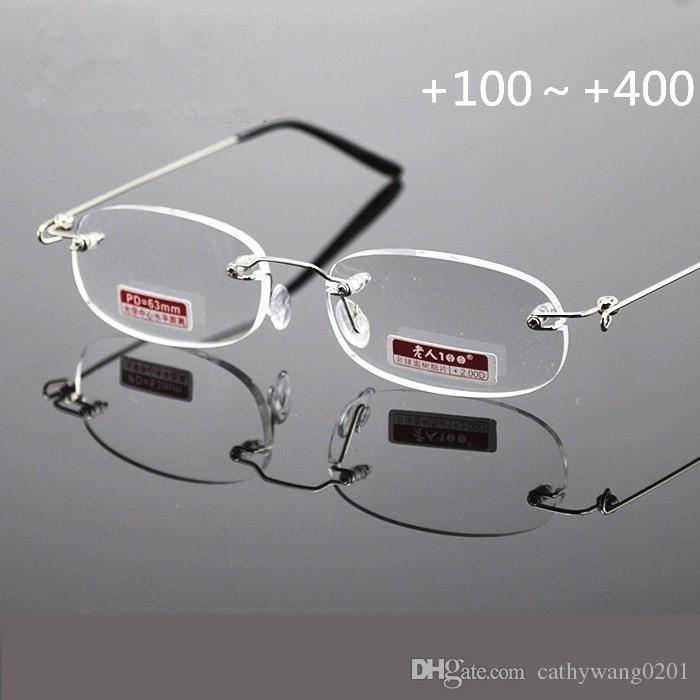 b56b9b3a916d5 2019 Top Grade Ultralight Frameless Reading Glasses Women Men Unisex High  Definition Rimless Glasses Best Selling ChristmasCI1044 From Cathywang0201