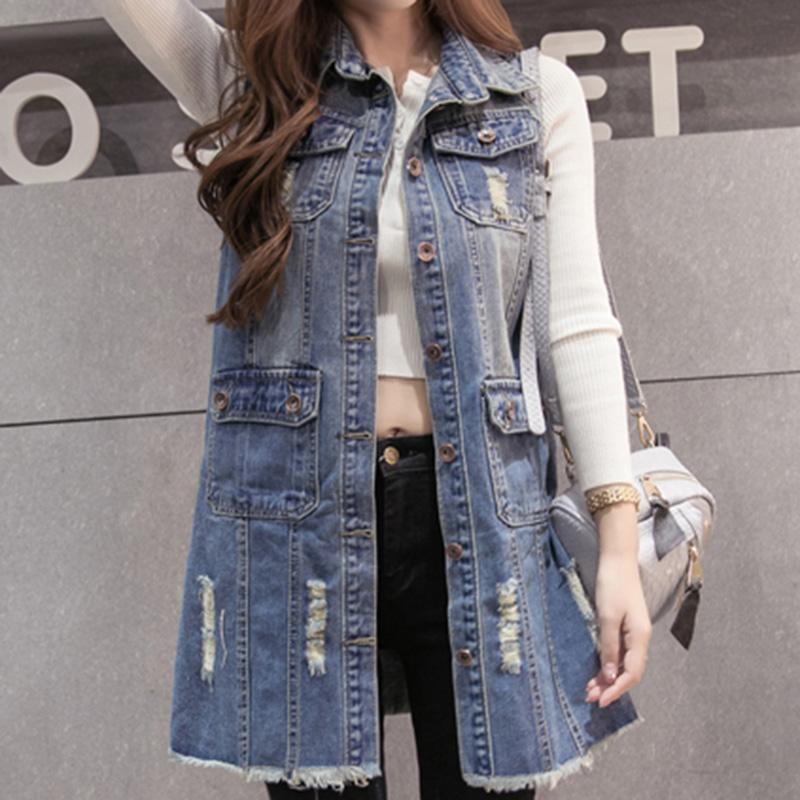 54019a6f45a Compre moda verano otoño mujeres denim chaleco casual mujeres jpg 800x800 Chalecos  de moda