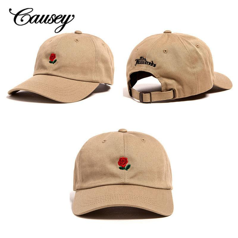 b2eb2fa5a4151 The Hundreds Rose Embroidered Snapback Caps For Women Men Fashion 2018 Unique  Adjustable Embroidered Rose Casual Hats Masculino Compton Cap Baseball Caps  ...