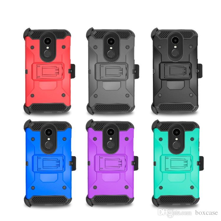 Defender Holster Belt Clip Case for LG Aristo 2 LV3 K8 K10 2018 Q7 Hybrid Kickstand Phone Protective Cover