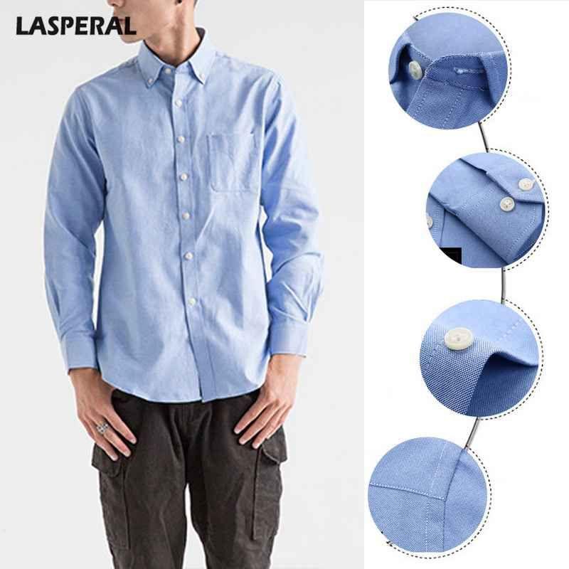 70422d44fe989 2019 LASPERAL Plus Size Men Dress Shirts Spring Autumn Cotton Long Sleeve  Social Shirts Business Casual Shirt Mens Slim Camisa Autumn From Modleline,  ...
