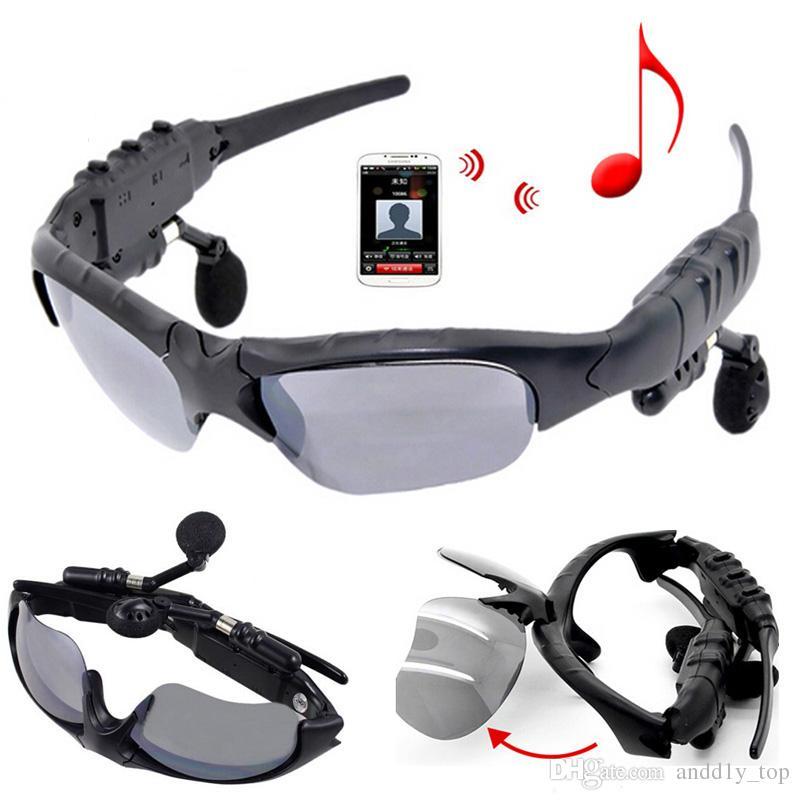 Gafas de sol Auriculares Bluetooth Sunglass Stereo Auriculares deportivos inalámbricos Auriculares manos libres Reproductor de música MP3 Sunglass para iPhone Samsung