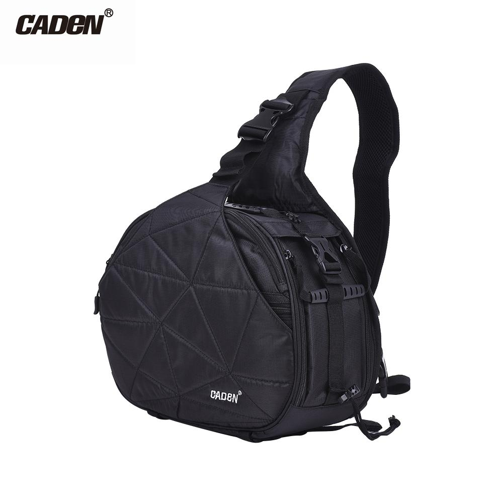 CADeN K2 e DSLR Camera Bag Cross Sling Carry Case Shockproof Waterproof with Tripod Holder for