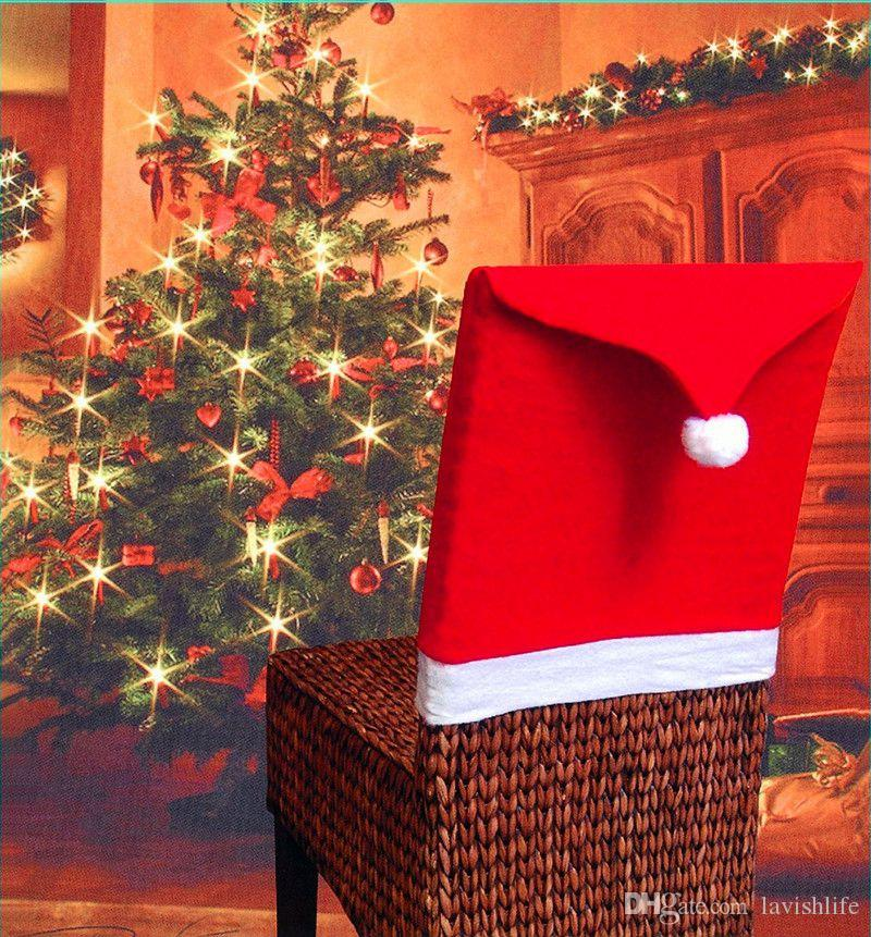 Christmas Chair Covers Christmas Decorations Chair Back Covers Dinner Decor Christmas Chair Back Cover Table Party Decoration CPC1